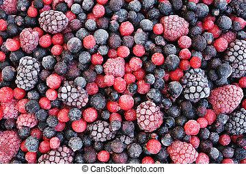 -, 水果, 冻结, 关闭, 混合, 浆果