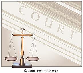 -, 法廷, スケール