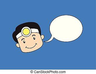 -, 漫画, ウエーター, 仕出し屋, スピーチ泡