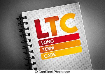 -, 用語, 心配, 長い間, ltc, 頭字語