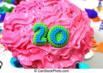 -, 祝福, 20, 数, cupcake