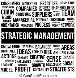 -, 管理, 単語, 雲, 戦略上である