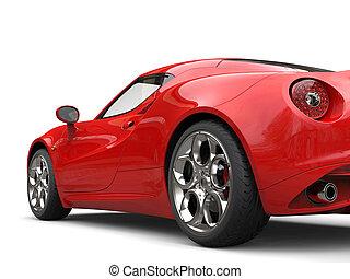 -, 自動車, クローズアップ, 尾, スポーツ, carnelian, 打撃, 概念, 赤灯