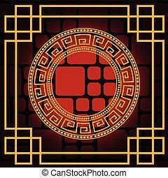-, 要素, デザイン, 中国語, 背景