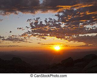 -, 見られた, simi, カリフォルニア, ピークに達しなさい, 谷, 岩が多い