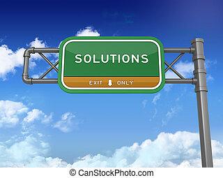 -, 解決方案, 高速公路, 簽署
