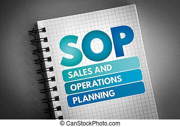 -, 計画, 頭字語, オペレーション, sop, 販売
