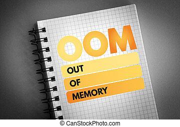 -, 記憶, 頭字語, oom, から