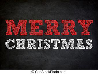 -, 設計, 聖誕節, 歡樂, 黑板