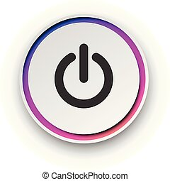 -, 輪, 脫開, 旋轉, button., 光譜