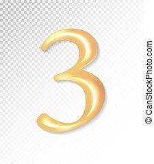 -, 金, 3., eps, ベクトル, 3d, コレクション, mesh., マット, 3, 10, 使うこと, 数