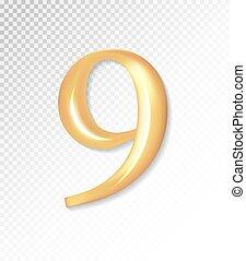 -, 金, 9., eps, ベクトル, 3d, 9, コレクション, mesh., マット, 10, 使うこと, 数