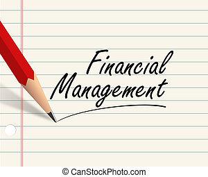 -, 鉛筆, ペーパー, 金融のマネージメント
