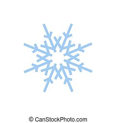 -, 雪, アイコン, 薄片, 隔離された, ベクトル