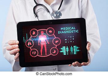 -, 革新, 医学, 患者, 緊急事態, health., 待遇, 薬, ヘルスケア, シンボル, データ, doctoral, 概念, サービス