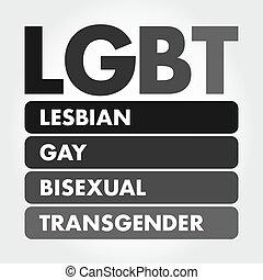 -, 頭字語, lgbt, transgender, レズビアン, ゲイである, 両性愛者