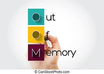 -, 頭字語, oom, 記憶, から