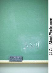-, 黒板, 数学