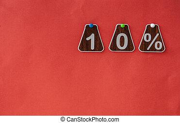 -, 10, 価格, 割引, 離れて, パーセント, タグ