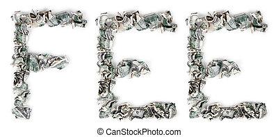 -, 100$, honoraires, ondulé, factures