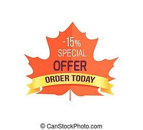 -15 Special Offer Order Today Vector Illustration