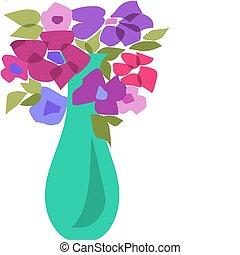 -2, bloemen, bouquetten, vellen, mooi