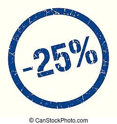 -25% stamp