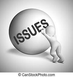 -, 3d, problemas, preocupaciones, ilustración, asuntos, o, ...