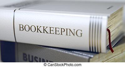 -, 3d., title., teneduría de libros, libro