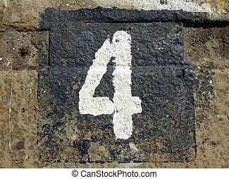 -, 4, alterato, numero
