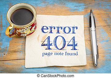 -, 404, 間違い, ない, 見いだされた, ページ