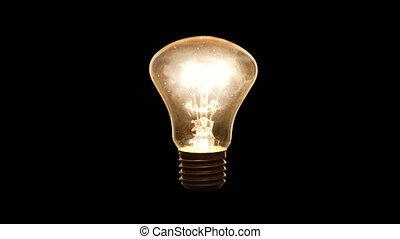 -, 4k, lumières, ampoule, incandescent, haut