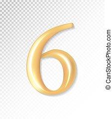 -, 6., 金, eps, ベクトル, 3d, コレクション, 6, マット, mesh., 10, 使うこと, 数