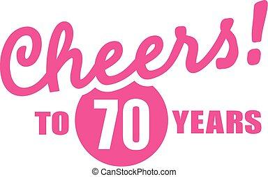 - , 70th, χρόνια , στην υγειά σας , γενέθλια , 70