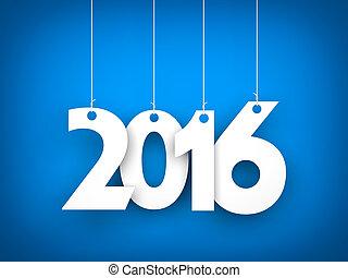 -, año, nuevo, plano de fondo, 2016