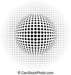 -, abstraktní, optický, illus, grafické pozadí