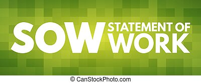-, acronyme, travail, concept, truie, déclaration