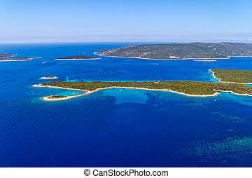 -, adriatisch, kroatië, landscape
