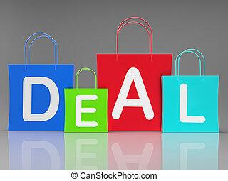 -, affaire, association, moyens, icône, commercer, 3d, accord, illustration, concept