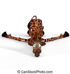 -, agréable, type caractère drôle, mignon, girafe