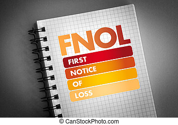 -, akronym, första, fnol, förlust, märka