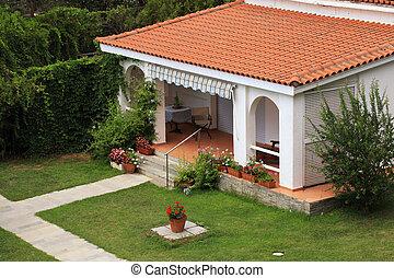 Exterior Separado Con Terraza Un Exterior Moderno Con