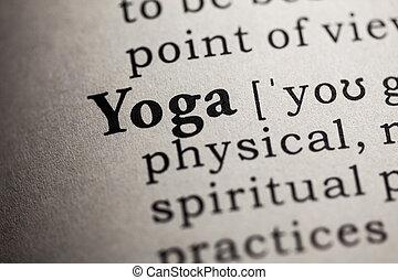 yoga dicción falsa definición diccionario de la palabra