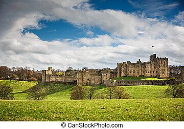 -, alnwick, northumberland, inglaterra, castillo
