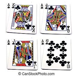 -, alto, clubes, 4, conjuntos, tarjetas