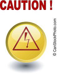 -, amarela, alto, cautela, mas, voltagem