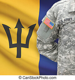 -, amerikai, katona, lobogó, háttér, növény faj