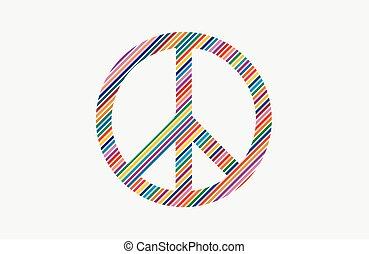 -, amor, marca, no, hippie, guerra, style., color, logo., ...