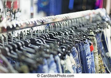 -, ankleiden gestell, kaufmannsladen, kleidung