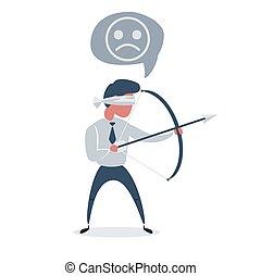 -, arrow., bez zastanowienia, biznesmen, zwyciężony, ...